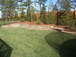 Retaining walls chatham landscapes nc for Landscaping rocks wake forest nc