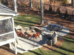 Outdoor Kitchens And Pergolas Chatham Landscapes Nc