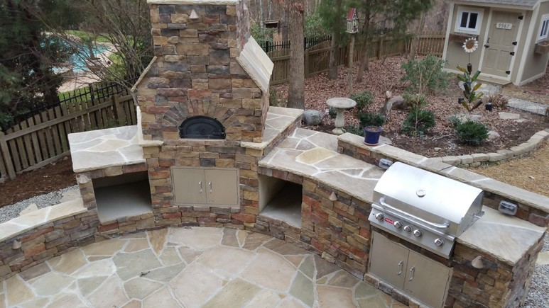 Super Outdoor Kitchens And Pergolas Chatham Landscapes Nc Download Free Architecture Designs Scobabritishbridgeorg